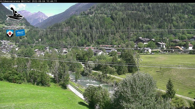 Livecam White Water Arena Mölltal - up the valley
